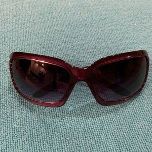 NY&C Dark Purple Rhinestone Sunglasses